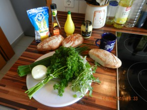 Die Kräuter für die Salsa Verde